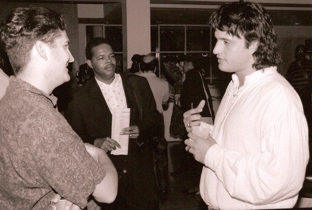 Director Robert Rodriguez at the 1993 Atlanta Film Festival with his breakthrough debut El Mariachi.