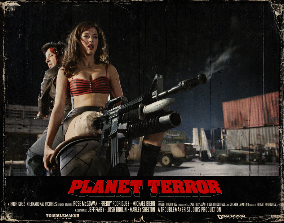 Planet Terror lobby cards